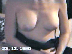 British actress Samantha Robson naked in a home video