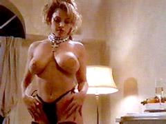 Busty Sandra Taylor fully undresses