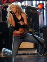 Colombian contralto singer Shakira..