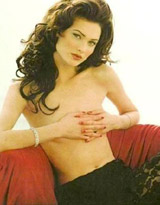 Shalom Harlow. Look at samples video..