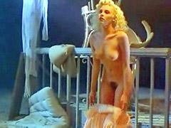 Nude Sherilyn Fenn exposes hairy pussy