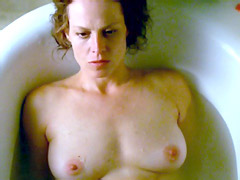 Sigourney Weaver topless embrace with..