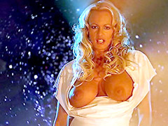 Big boobs Stormy Daniels stripping and..