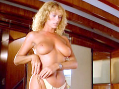 Sybil Danning stripping and showing..