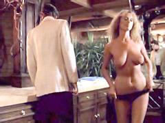Sybil Danning removing her sexy black..