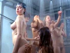 Tania Busselier nude lesbian scene in..
