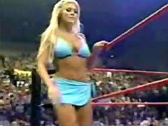 WWE stars Stacy Keibler and Torrie..