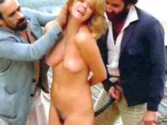 Fully naked Vera Jimenez exposes tits and hairy pussy