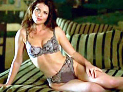 Actress Yasmine Bleeth in a sex scene
